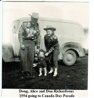 Doug, Don and Alice Richardson1954